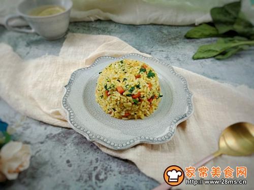 菠菜火腿鸡蛋炒饭的做法图解9