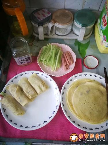 小卷饼(儿童早餐)的做法图解4