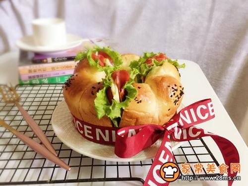花环小汉堡的做法图解9