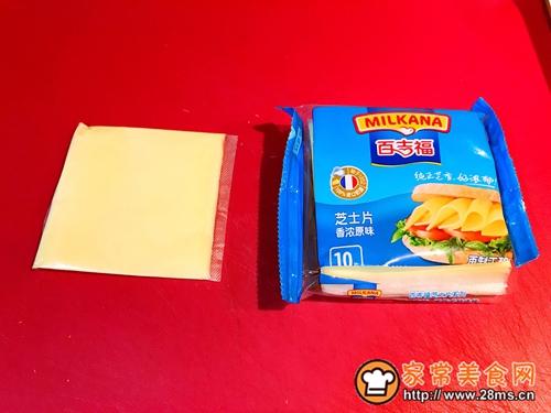 百吉福奶酪花朵三明治的做法图解1