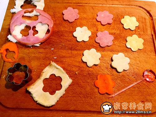 百吉福奶酪花朵三明治的做法图解10