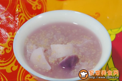 养生山药紫薯二米粥