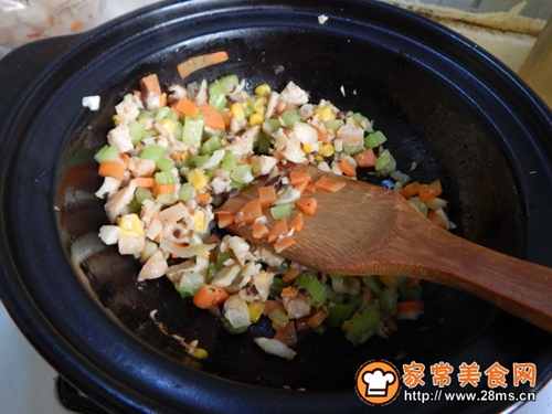 香菇鸡肉焗饭