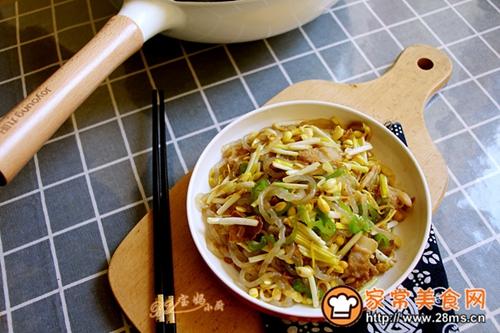 黄豆芽炒蒜黄