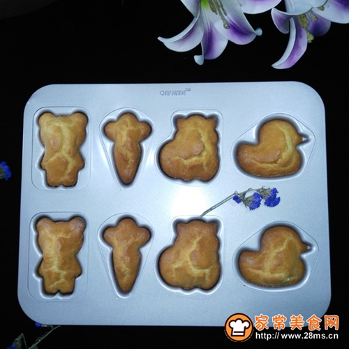 可爱动物造型海绵蛋糕的做法