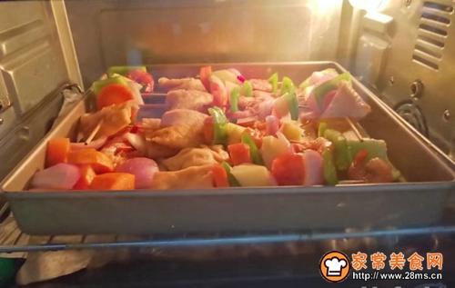 时蔬虾仁烤串