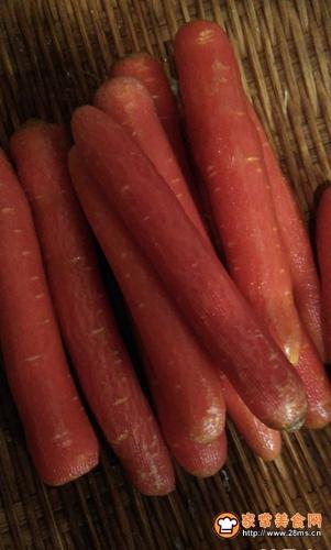自制干胡萝卜