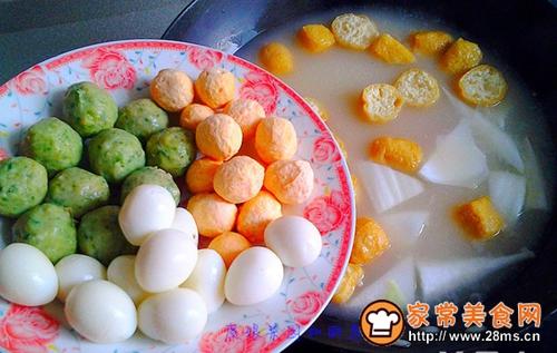 鹌鹑蛋丸子火锅