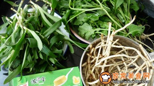 野菜鸡汤火锅