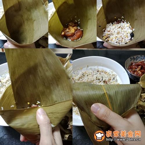 十二谷米叉烧粽的做法图解7