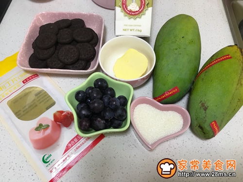 冰淇淋芒果慕斯蛋糕的做法图解1