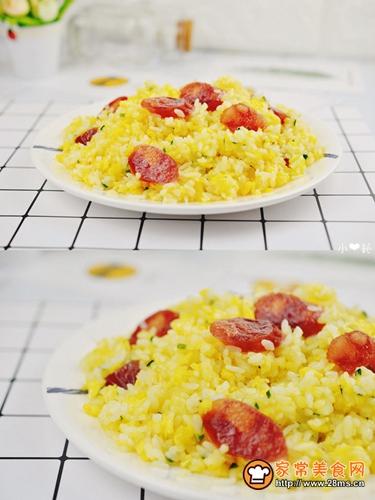 香肠黄金蛋炒饭的做法图解7