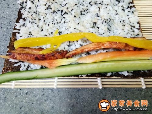 黑芝麻奥尔良鸡肉寿司的做法图解5