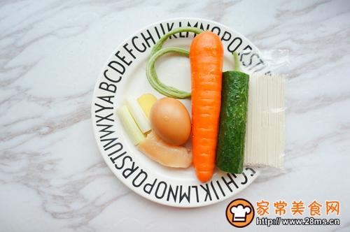 杂蔬鸡丝凉面的做法图解1