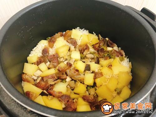 土豆腊肠焖饭的做法图解8