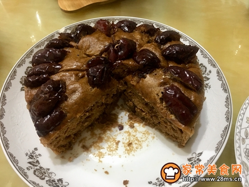 红糖红枣核桃发糕的做法图解5