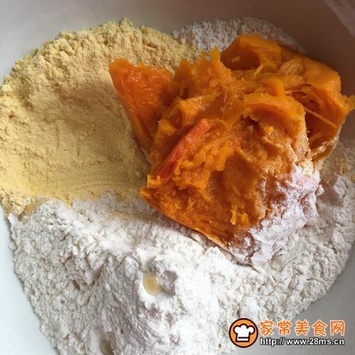 南瓜玉米面发糕的做法图解2
