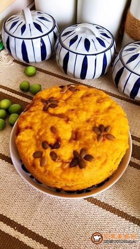 南瓜玉米面发糕的做法图解7