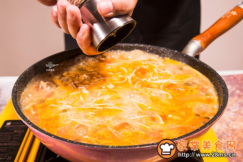 番茄猪肝浓汤的做法图解7