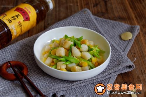 鲜贝玉米炒芦笋的做法图解9