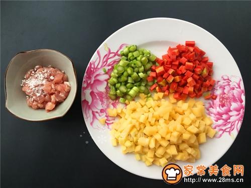 芦笋土豆炒肉丁的做法图解2