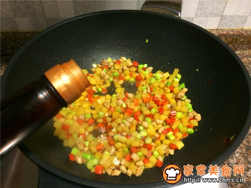 芦笋土豆炒肉丁的做法图解8