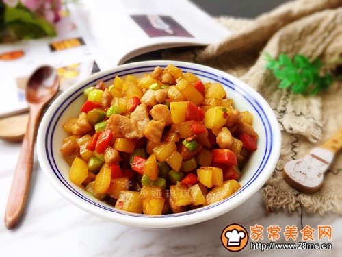 芦笋土豆炒肉丁的做法图解10