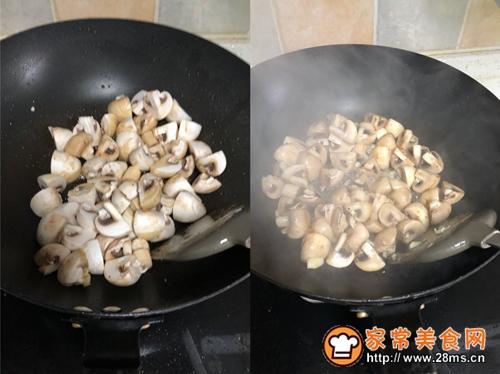 黑胡椒牛肉炒蘑菇的做法图解4