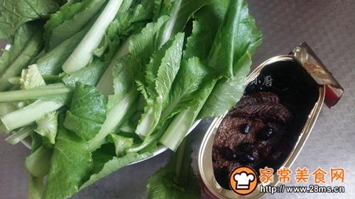 豆豉鱼小白菜的做法图解1