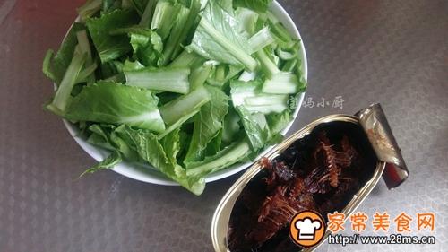 豆豉鱼小白菜的做法图解2