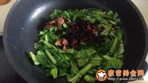 豆豉鱼小白菜的做法图解5