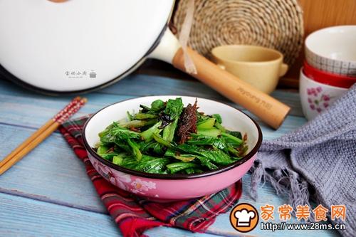 豆豉鱼小白菜的做法图解6