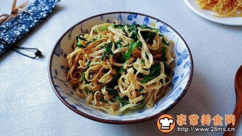 姜小白菜煮千张的做法图解10