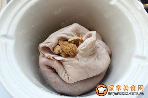 养胃食疗猴头菇猪肚汤的做法图解5