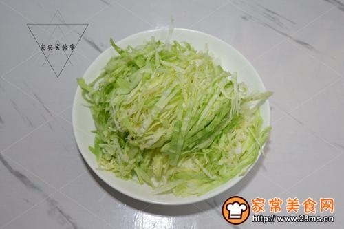 清炒圆白菜的做法图解2