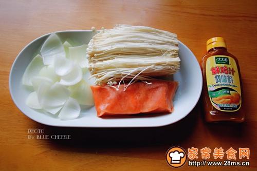 奶油三文鱼味噌汤锅的做法图解1