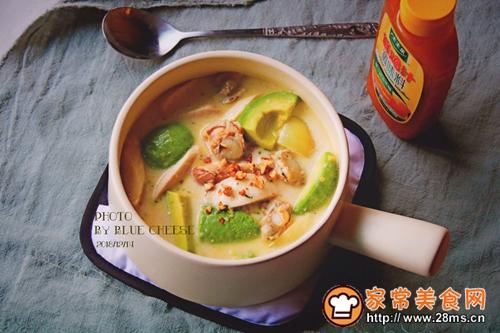 扇贝玉米羹奶油锅的做法图解8