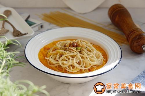 红薯浓汤意面的做法图解10