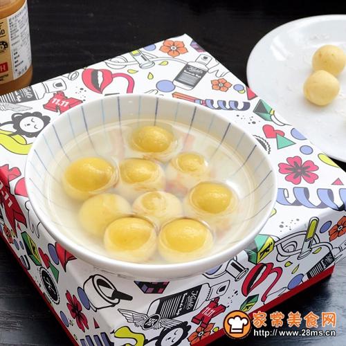 红薯花生馅汤圆的做法图解7