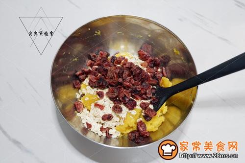 蔓越莓红薯燕麦饼的做法图解4