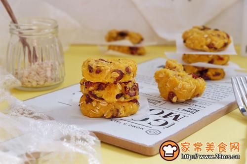 蔓越莓红薯燕麦饼的做法图解11