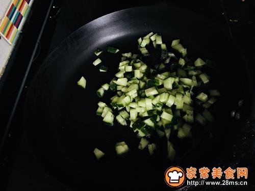 黄瓜蛋炒饭#中式减脂餐#的做法图解2