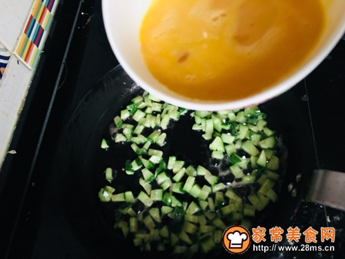 黄瓜蛋炒饭#中式减脂餐#的做法图解3