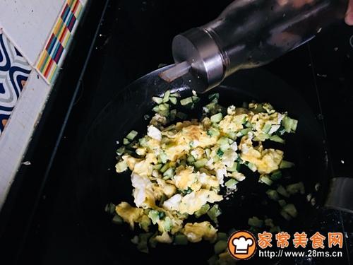 黄瓜蛋炒饭#中式减脂餐#的做法图解4