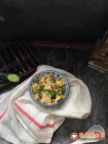 黄瓜蛋炒饭#中式减脂餐#的做法图解6