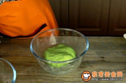 蛋黄肉松青团的做法图解3