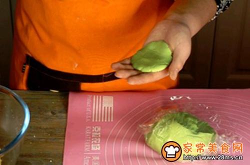 蛋黄肉松青团的做法图解5
