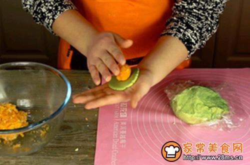 蛋黄肉松青团的做法图解6