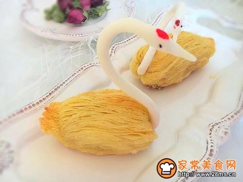 #年味十足的中式面点#天鹅榴莲酥的做法图解6