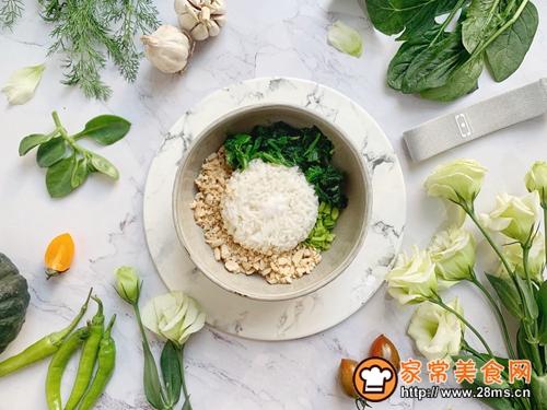 菠菜饭团(雨水节气便当)的做法图解3